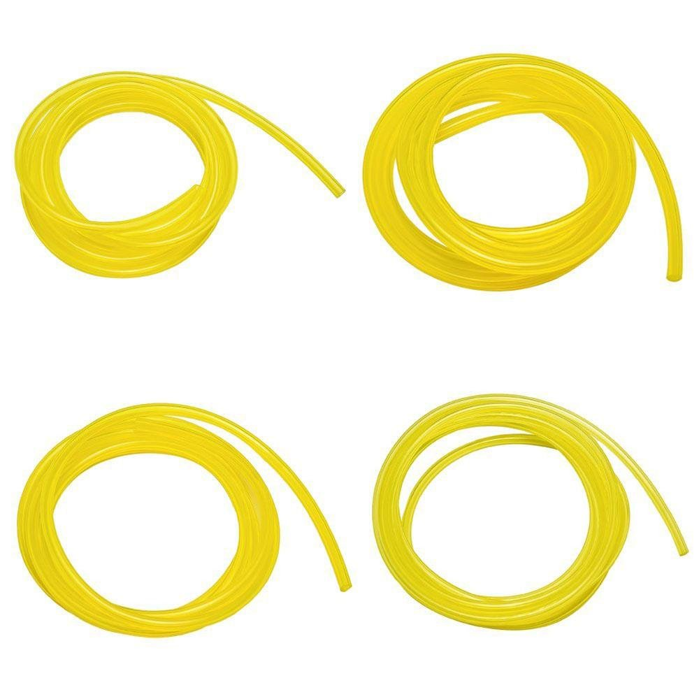 niceEshop(TM) Petrol Fuel Lines Hose Tubing Carburetor Fuel Lines with 4 Different Size for Weedeater, Chainsaw,Yellow
