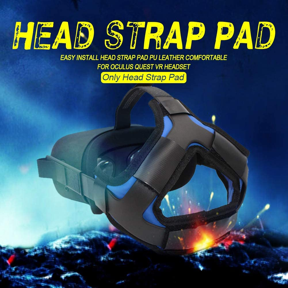 No nulo Almohadilla para auriculares Oculus Quest VR de realidad virtual Tama/ño libre XHXseller accesorios de fijaci/ón para la cabeza Gris c/ómoda piel sint/ética y reduce la presi/ón de la cabeza