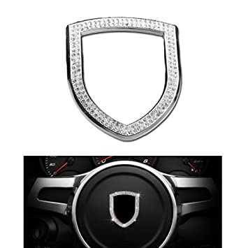 Porsche interior volante Logo Emblema Bandera Caps decoración Crystal Rhinestone modificado Panamera Cayenne, Macan,
