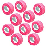Generic 10 Pcs Pink Nail Art Flex Wrap Finger Care Bandage
