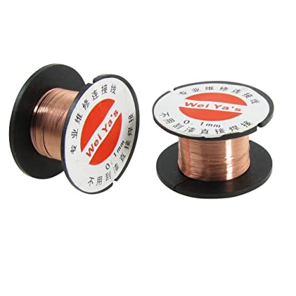 uxcell 5 Pcs 0.1mm Diameter Copper Soldering Solder Enamelled Reel Wire - Power Soldering Accessories - Amazon.com