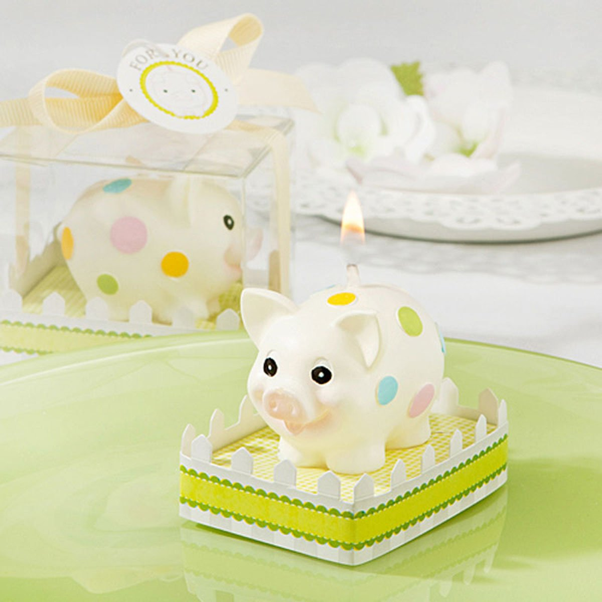 Cartoon Zodiac Pig Charming Gifts Party Candles Smokeless Candles Birthday Candles for Baby Shower and Wedding Favor Keepsake Favor (10)