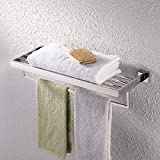 KES Towel Rack, with Towel Bar Bathroom Shelf Wall Mount 24 Inch Hotel style,Polished SUS 304 Stainless Steel, A2510