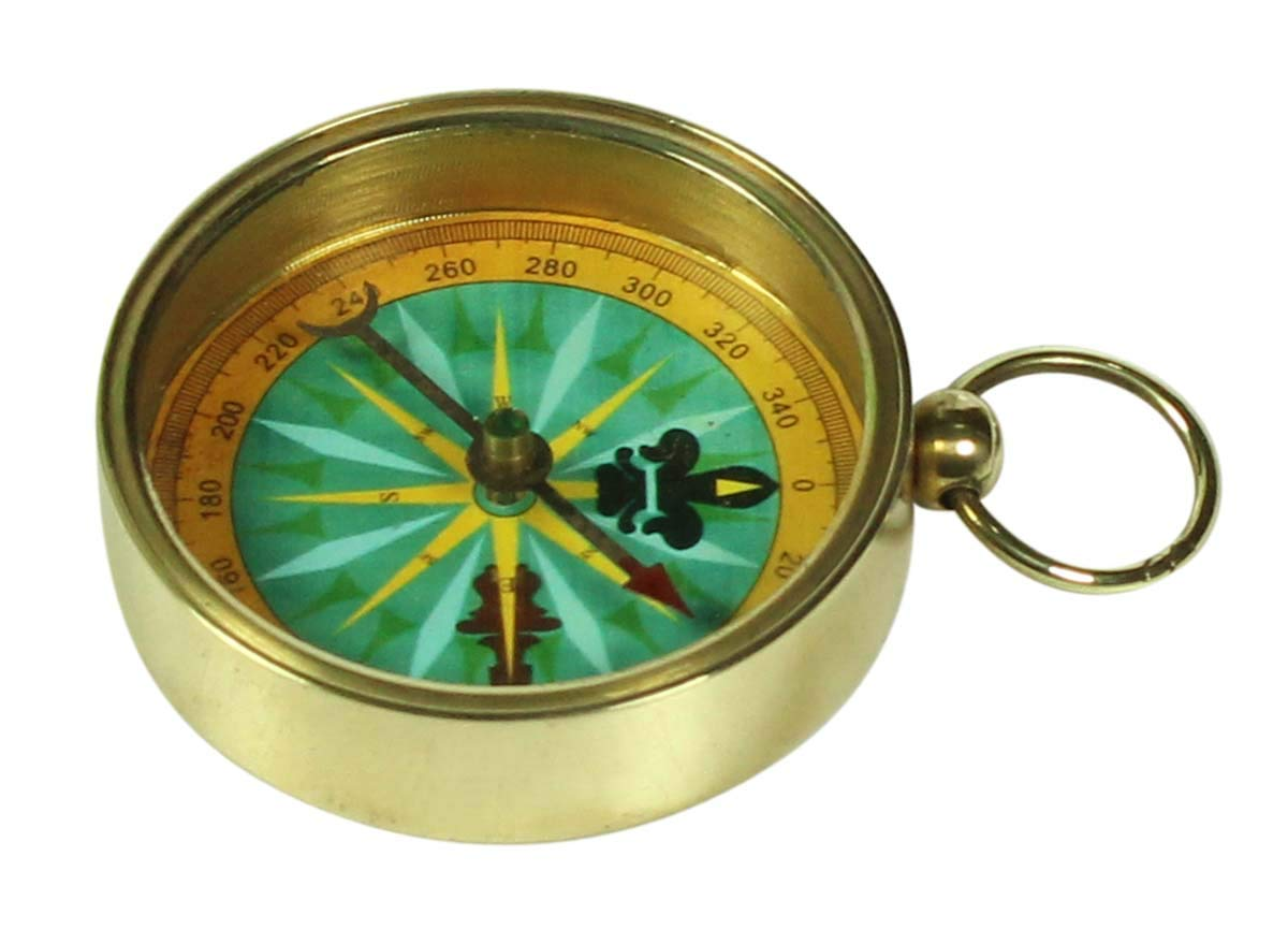 """Antique 2/"""" Magnetic Navigation Device Military Lensatic Compass in Brass for Corporate//Personal Gifts"""