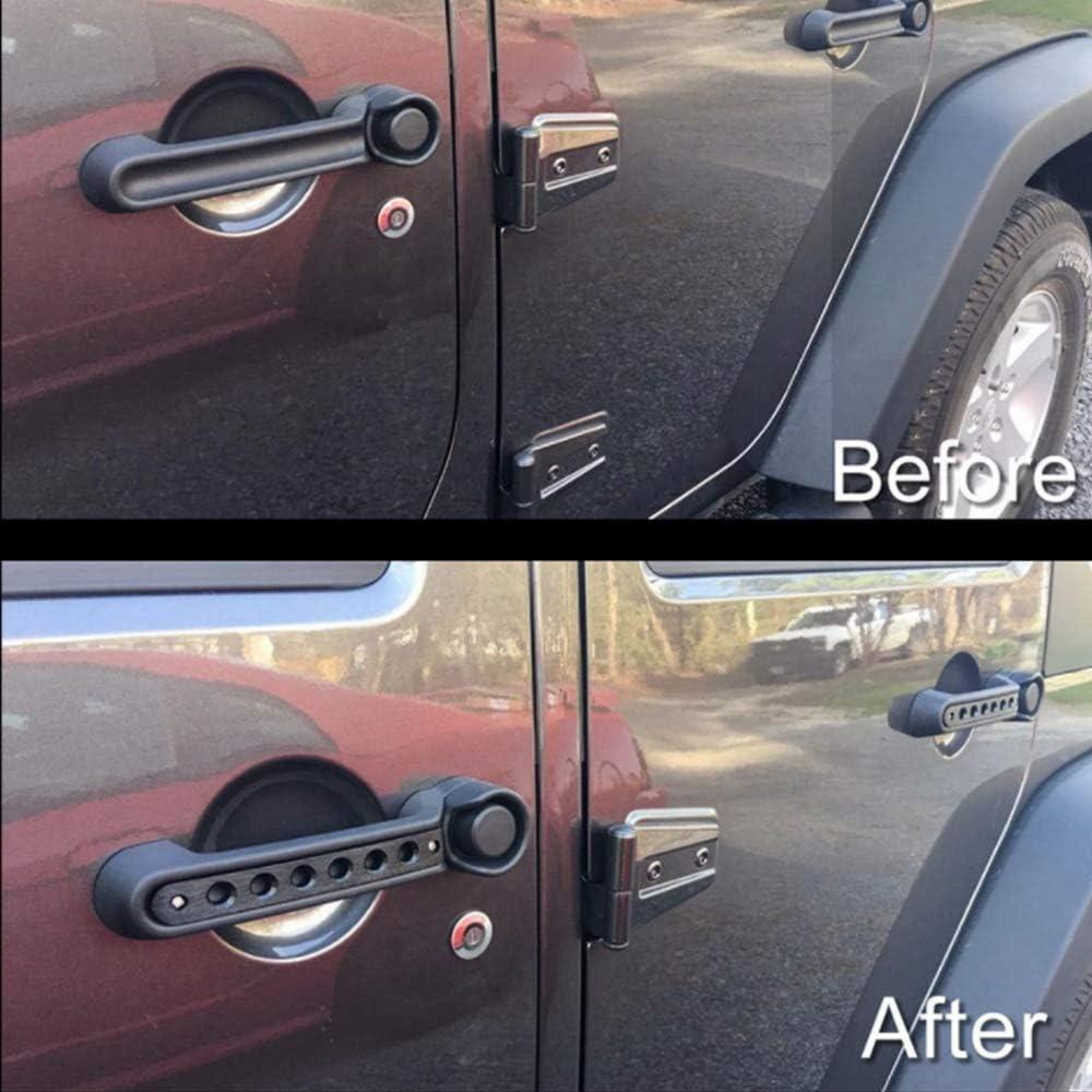 OKLEAD Lot de 5 inserts de poign/ée de porte en aluminium pour portes lat/érales Wrangler JK et 4 portes illimit/ées