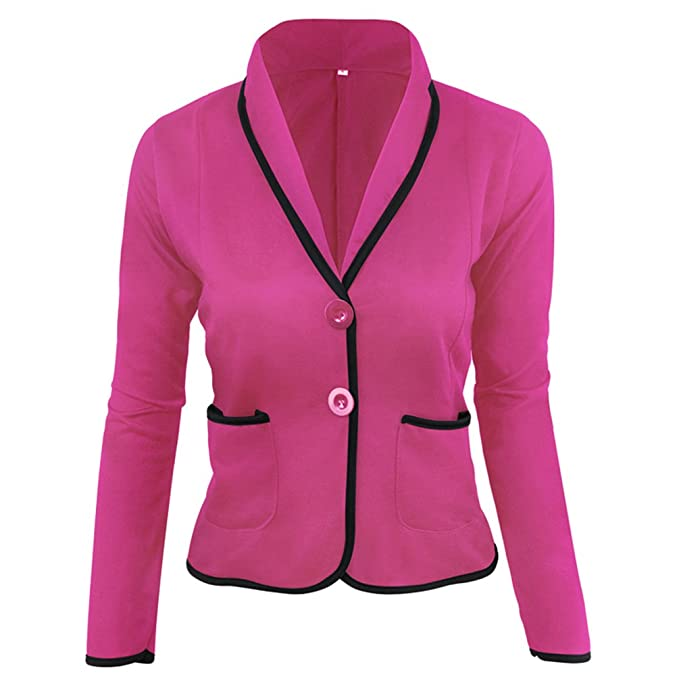ZKOO Blázer Abrigo Mujer Blazer Color Sólido Americana Blazer Traje Blazer De Slim Chaqueta del Traje OL Blazer De Las Mujeres