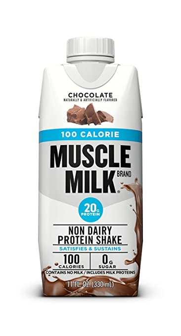 Muscle Milk 100 Calorie Protein Shake, Chocolate, 20g Protein, 11 FL OZ,