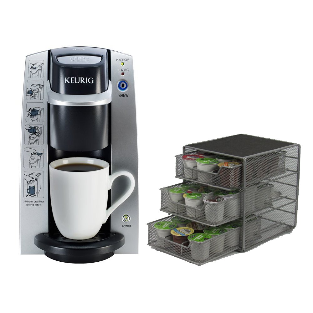 Keurig K-Cup In Room Brewing System, 11.1 x 10-Inches + Caddy