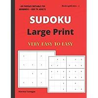 Sudoku: Large Print Sudoku Book for Beginners