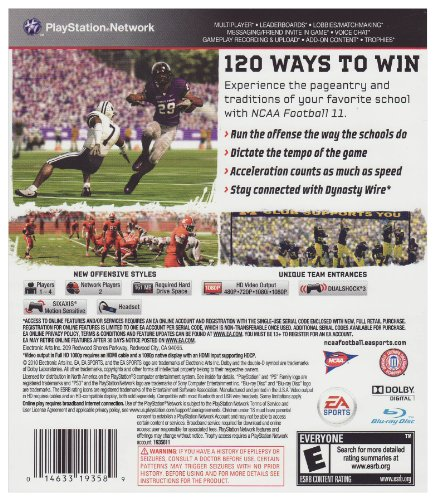 NCAA Football 11 - Playstation 3 by Electronic Arts (Image #3)