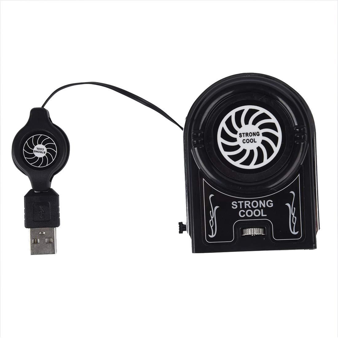 SODIAL(R) USB Mini Ventilador de Refrigeracion con LED Azul Portatil Solucion de Sobrecalentamiento para Notebook Ordenador Portatil 007283