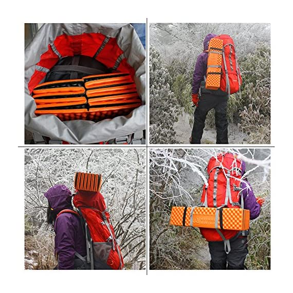 Outdoor Hiking Mountaineering Foam Camping Mat Sleeping Pad in Tent Dampproof Mattress Foam 7 Material: IXPE. Suitable for four seasons.100% brand new and high quality The egg cell shape is soft and comfortable, this shape does not change the weight of the situation greatly increases comfort. It's the best choice for people seeking sleep-any-where, on any-thing durability and comfort