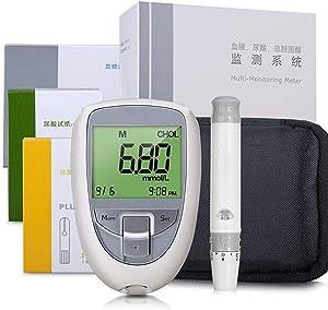Cholesterol Test Kit for Home, 3 in 1 Multi-Function Cholesterol,Blood Sugar,Uric Acid Test Meter,Blood Sugar Glucose Test Strips Lancets (Color : Package 5)