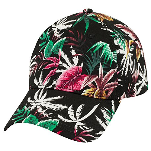 Hawaiian Print Soft Crown Low Profile Adjustable Baseball Cap - (Print Spandex Cap)