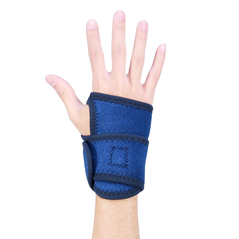 Muñ equera ajustable unisex Muñ equera soporte muñ eca muñ eca transpirable Muñ eca envoltura protecció n mano azul derecho para hombres y mujeres DOACT