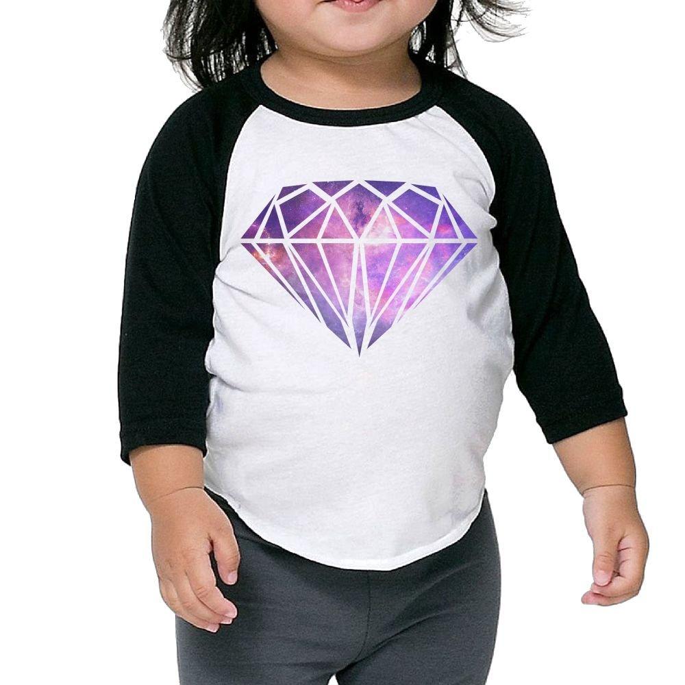 Hanxiaoxiao Girls Galaxy Diamond Logo Leisure Home Cute Shirt Crew Neck 1 2 Sleeve Raglan