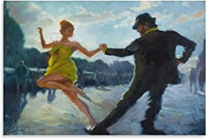 Dancing Art Poster Picture Canvas Printed Painting Tango Square Dancing Wall Art Poster for Living Room Decor Canvas Painting Canvas Printed Poster Canvas Art Wall Canvas Abstract Canvas Art Poster an