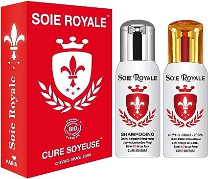 Seda Royal Cure Soyeuse Bio Proteínas de seda 125 extractos de plantas bio, flor de Lis Royal + Champú 125 ml Ácido hialurónico Natural ...