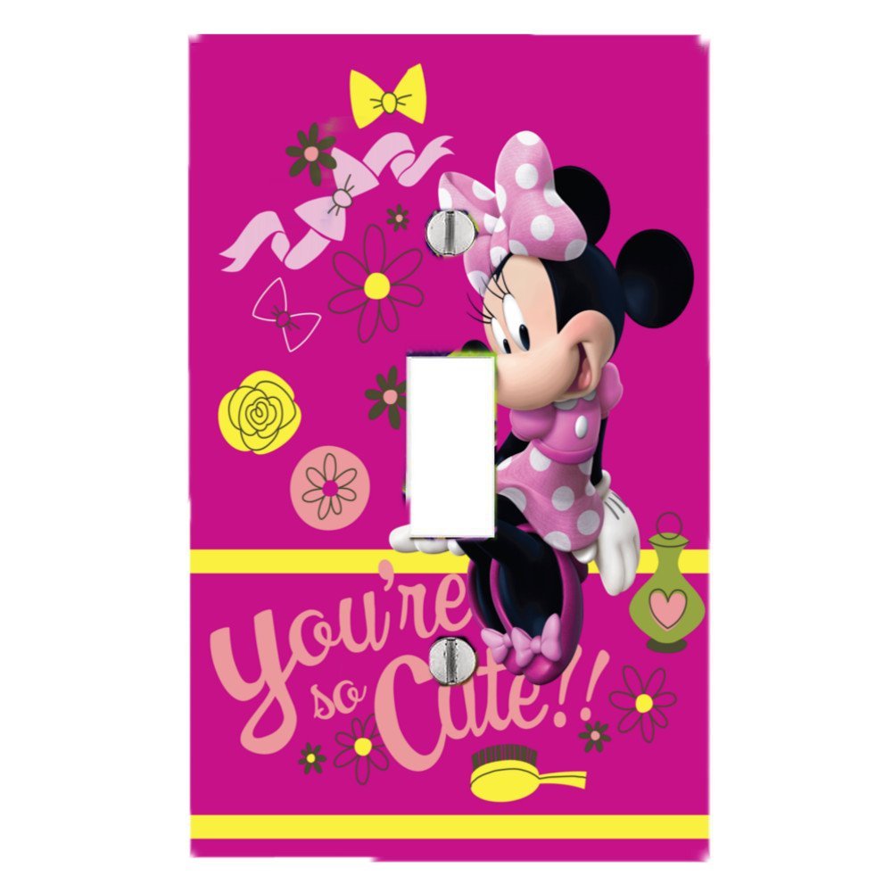 Got You Covered Minnie Mouse Diva Bedding Bathroom Light Switch Cover Plate