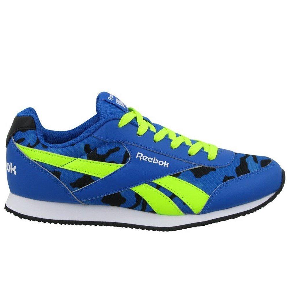 Reebok Royal Cljog 2GR, Chaussures Mixte Bébé, Bleu/Noir/Jaune (Bleu Sport/Noir/Solaire Jaune/Elec Bleu), 27