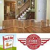 Pet Dog Gate Adjustable Indoor Solid Construction Pet Fence Playpen Free Stand & eBook by Easy2Find For Sale