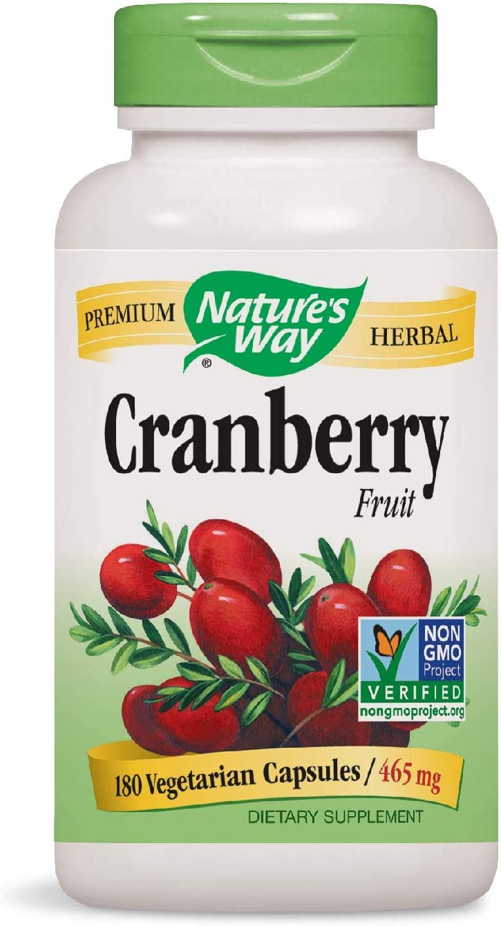 Nature's Way Cranberry Fruit Capsules, Non-GMO, Gluten Free Supplement, 930mg per Serving, 180 Count