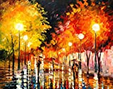 RAINY NIGHT is an Oversized, One-of-a-Kind, ORIGINAL OIL PAINTING ON CANVAS by Leonid AFREMOV. We asked Leonid to paint some new, exciting and AFFORDABLE LARGE ORIGINALS for his collectors in the USA. Each of these AMAZING ORIGINAL Masterpieces are h...