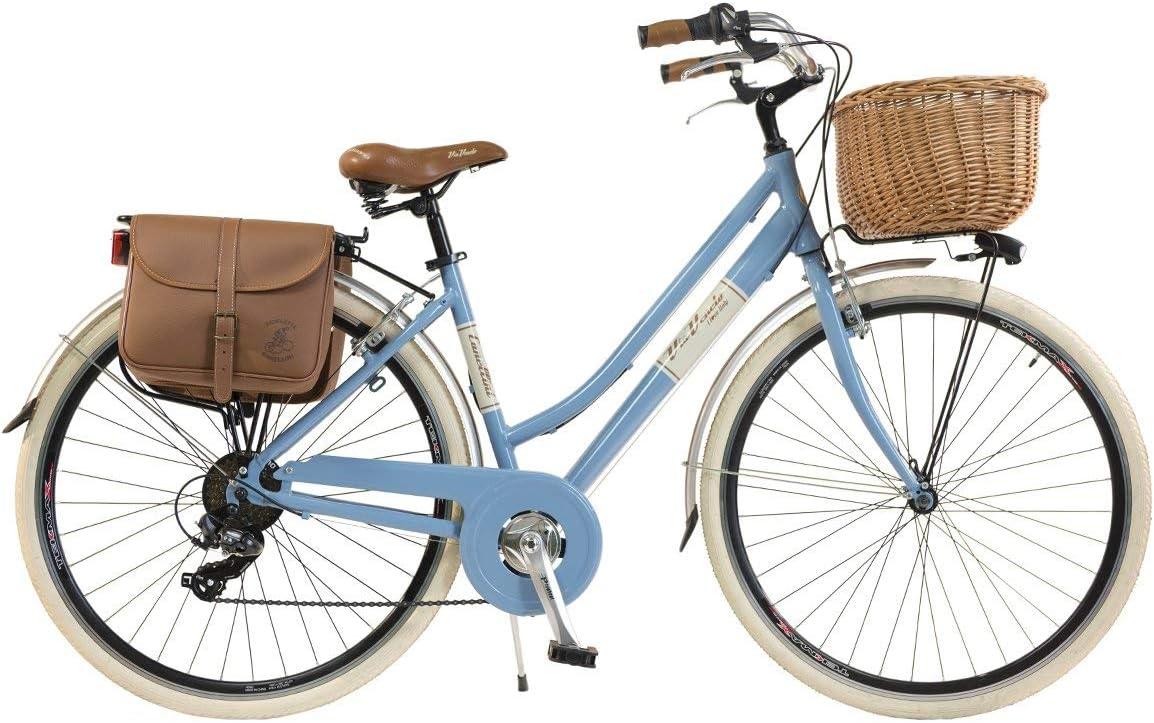 Via Veneto By Canellini Bicicleta Bici Citybike Ctb Mujer Vintage Retro Via Veneto Aluminio (Azul, 46): Amazon.es: Deportes y aire libre