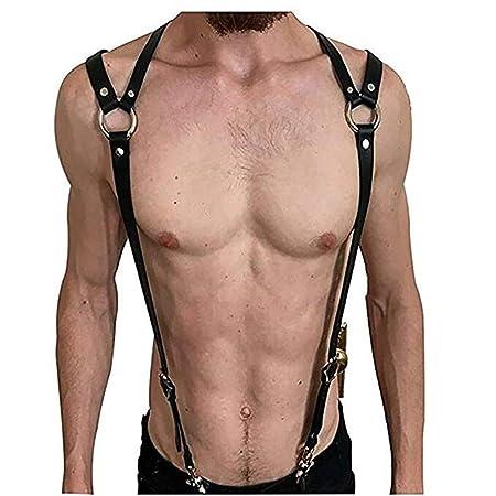 Sexy Body Arnés Bra Caged Bra Mens Ajustable Cuero Punk Pecho ...