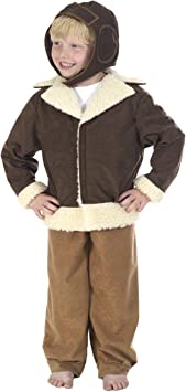 Fighter - Disfraz de piloto para niño, talla 140 cm (300107): Amazon ...