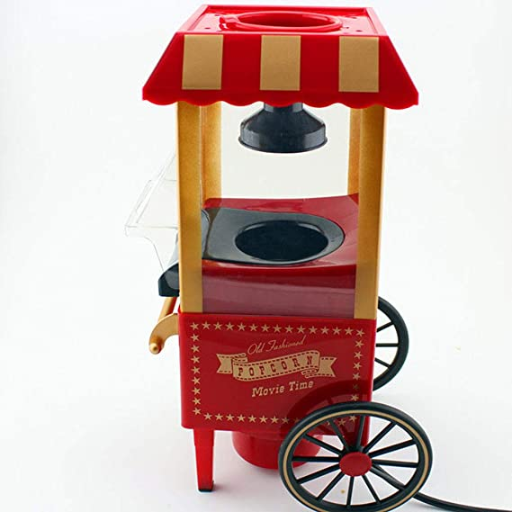 Popcorn Machine | Retro Palomitero Pop Corn Maker | Aire Caliente Sin Grasa Aceita,el favorito de los niños: Amazon.es: Hogar