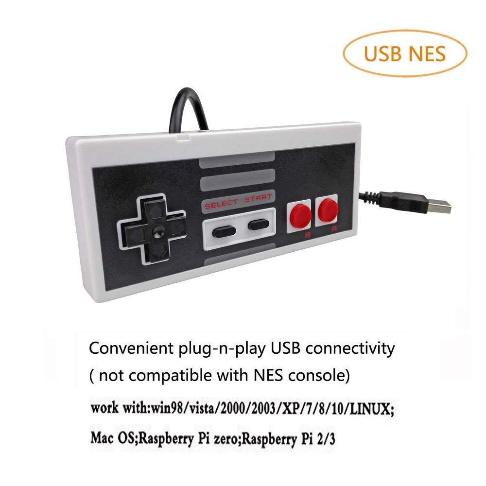DOORGA 5.8 pies Classic USB Wired Controlador para NES ...