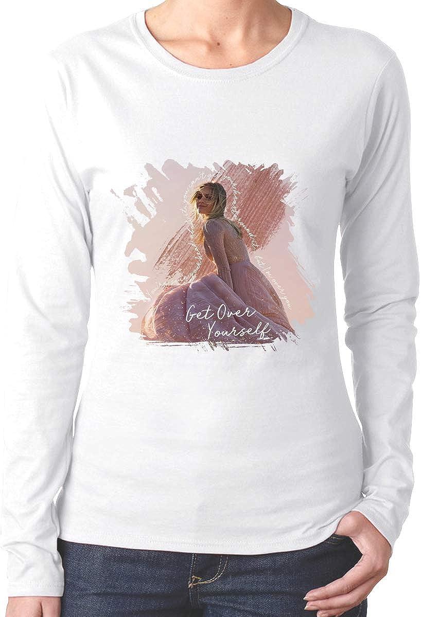 HangHisi Kelsea Ballerini Womens Long Sleeve T Shirts Cotton Round Neck Long Sleeved T Shirt