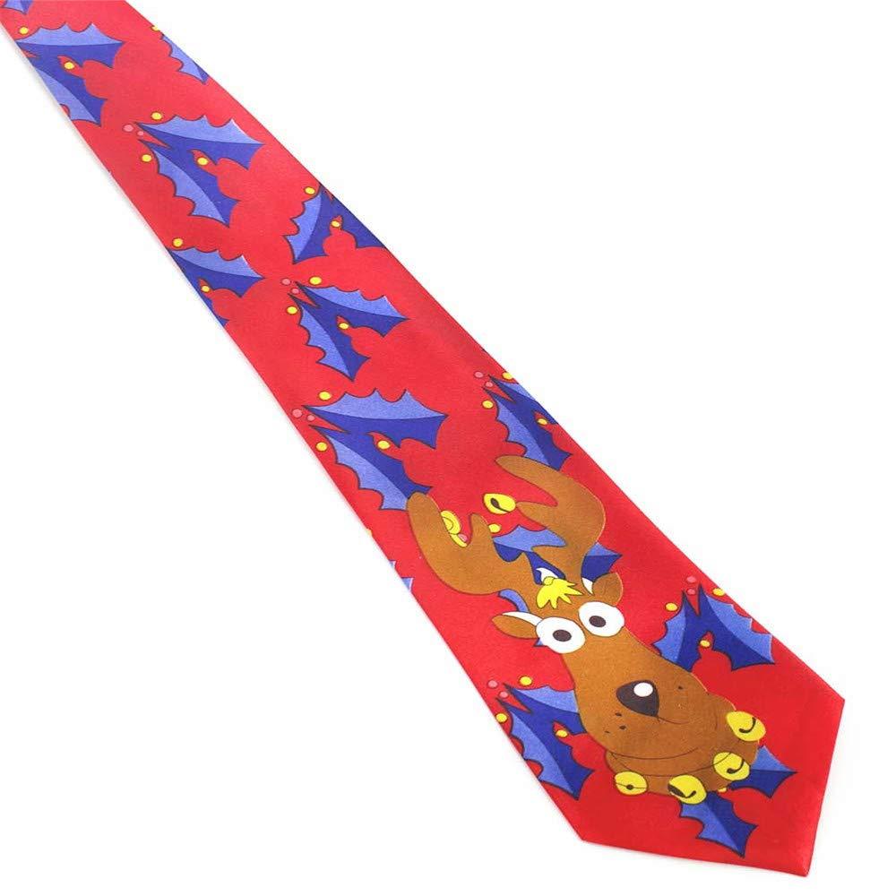XJIUER corbata Novedad Diseño Año Árbol Impreso Corbata ...
