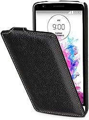 StilGut® UltraSlim Case, custodia in pelle per LG G3 Stylus, nero