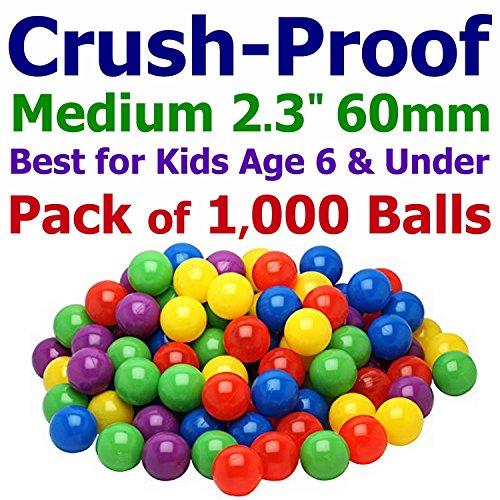 My Balls 1000 Ball Pit Balls - 5 Bright Colors; 2.3