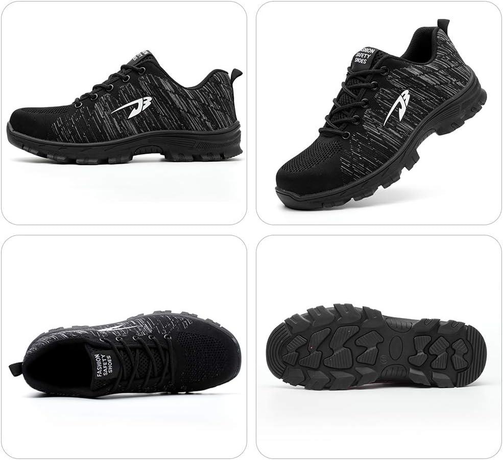 LASPERAL Chaussure de Securit/é Homme Ultra L/éger Chaussures de Basket de Travail Chantiers et Industrie avec Embout de Protection en Acier Chaussure Respirant