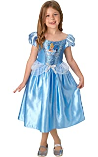 0866e455f Rubie's Official Disney Princess Sequin Cinderella Classic Costume, Childs  Size Small Age 3-4