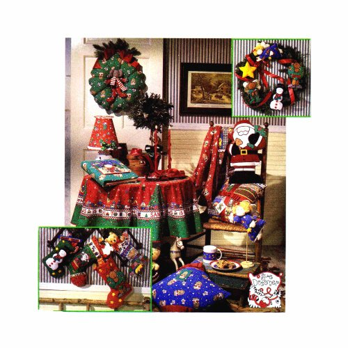 - Christmas Ornaments Tree Topper Angel Wreath Stocking Santa Pillow Simplicity 8806 Sewing Pattern
