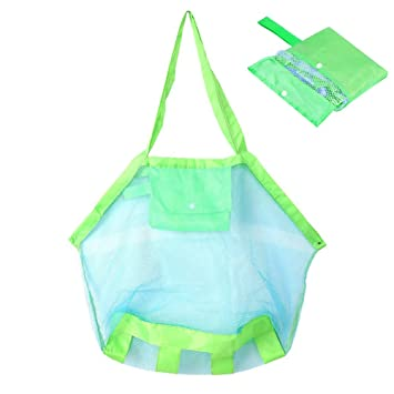 INTVN Set de 2 Bolsas de Malla para la Playa Juguetes de Niños / Toallas etc - Ideal para Piscina