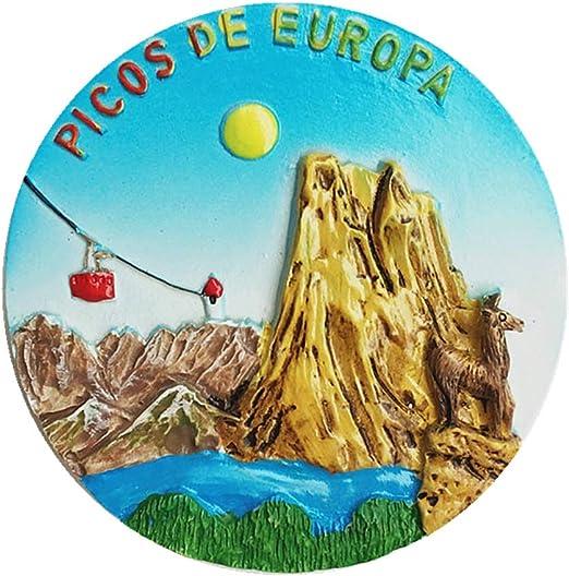 Mount Europa (Picos de Europa) Asturias España imán 3D para nevera ...
