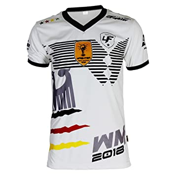 4Fighter Alemania Camiseta Copa del Mundo 2018 Blanco: Amazon.es: Deportes y aire libre