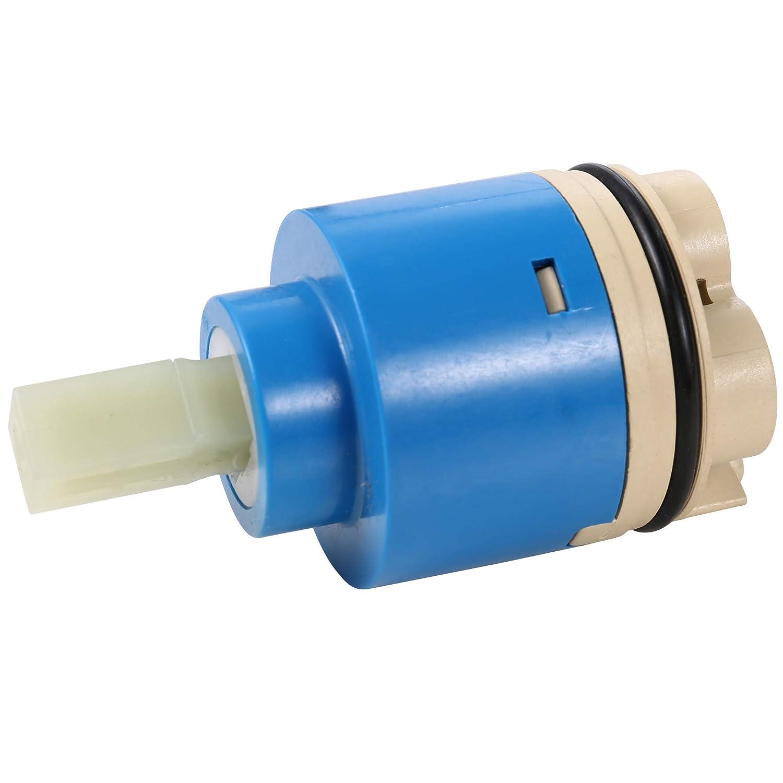 SDPAWA Grifo de cer/ámica cartucho de disco de agua fr/ía caliente mezclador de agua de la v/álvula interior de repuesto para cocina ba/ño 2 unidades