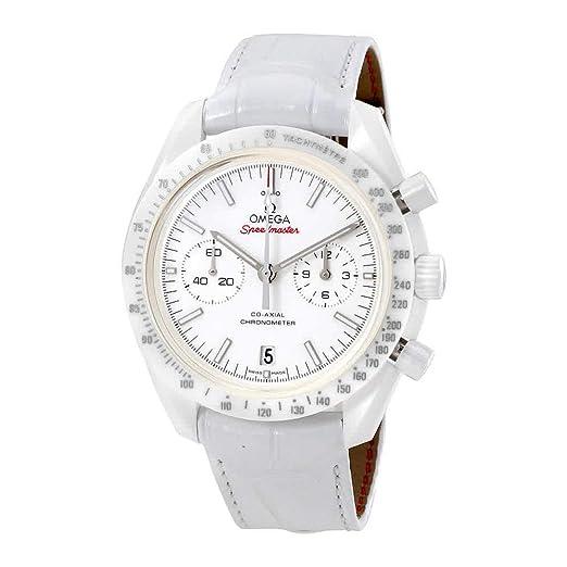 Omega Speedmaster Moonwatch Blanco Lado de la Luna para Hombre Reloj 31193445104002: Amazon.es: Relojes