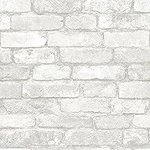 WallPops NU1653 Brick Peel and Stick Wallpaper, Multi-Color