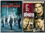 Inception & Departed DVD 2 Pack Leonardo DiCaprio Double Feature Movie Set