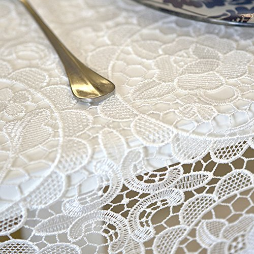 Macrame lace tablecloth Heavyweight fabric tablecloth Rectangle & oblong Tablecloth for wedding-A 100x150cm(39x59inch) (Heavyweight Lace)