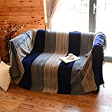 WYSMao Nordic style Throws for sofa,Cotton Sofa slipcovers Sofa blanket Bay window blanket Carpet For 1,2,3,4 cushion covers-furniture protector-blue 150x190cm(59x75inch)