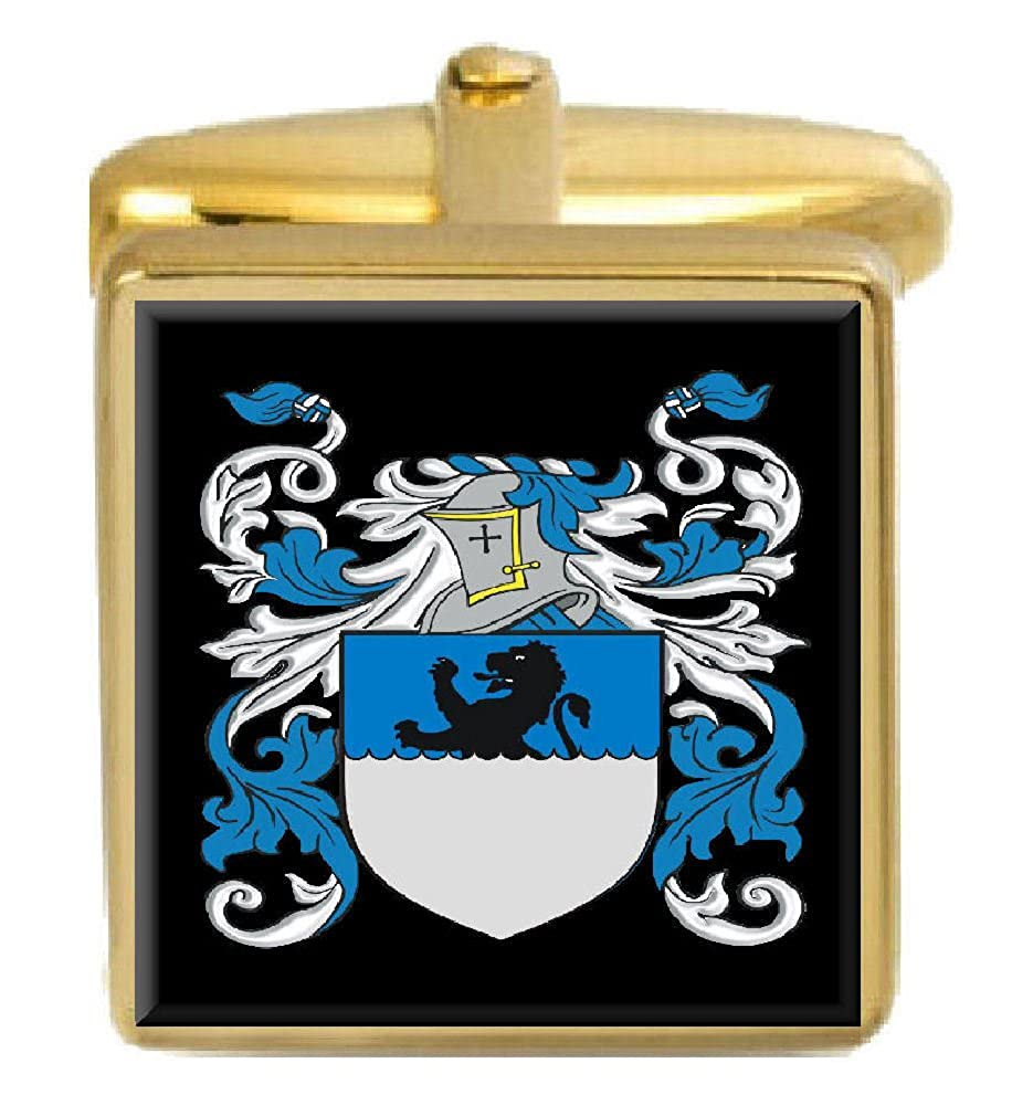 Select Gifts Mcneil Ireland Family Crest Surname Coat Of Arms Gold Cufflinks Engraved Box