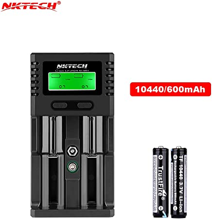 Universal Soshine H2 LCD Display Car//Wall Battery Charger For Li-ion Ni-MH 18650